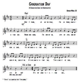 """Graduation Day"" song for Kindergarten graduation program w/ background track"