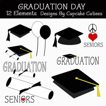Graduation Days Digital Clip Art Elements