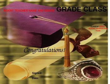 Graduation Diploma - Any Grade