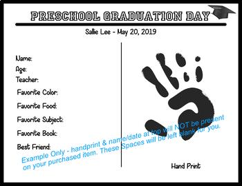 Graduation Diploma Certificate - Preschool - Black