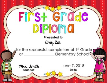 Graduation Diplomas for PK-5 {EDITABLE}. #celebratedeals