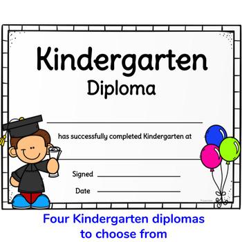 Graduation Diploma Certificates for Preschool and Kindergarten Graduation