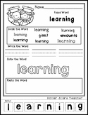 Graduation - End of School - Editable Word Worksheet w/ Th