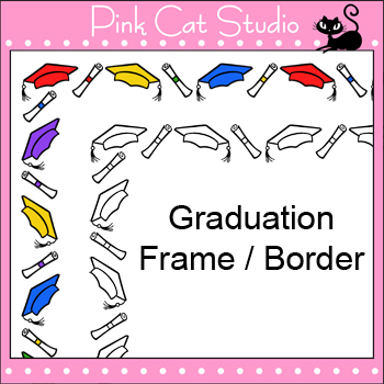 Borders - Graduation Frame / Border Clip Art - Personal & Commercial Use