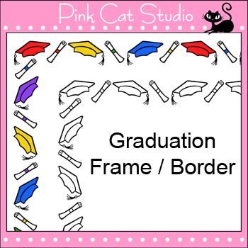 Borders - Graduation Frame / Border Clip Art - Personal &
