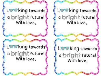 "Graduation Gift Tag Cards ""Bright Future"