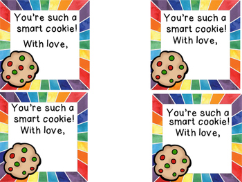 """Graduation Gift Tag Cards """"Smart Cookie"""""""