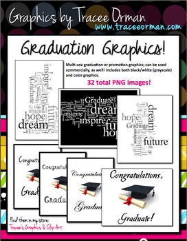 Graduation Graphics (Any Year) for Commercial Use