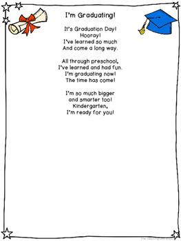 Graduation Handprint Poems & Certificates for Preschool and Kindergarten