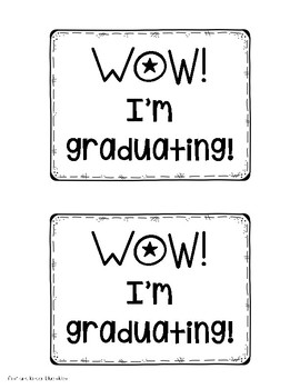 Graduation Hat Pattern and Tags