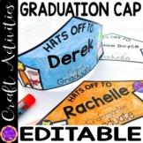 Graduation Hat Printable Template |  Graduation Cap Editable Name Year and Grade