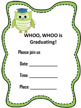 Graduation Invitations 2 styles