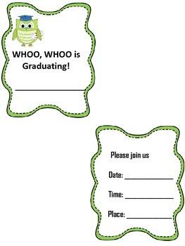 Graduation Invitations 2 styles