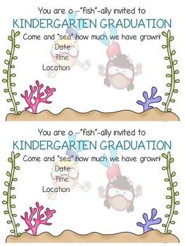 Graduation Invitations - Under the Sea