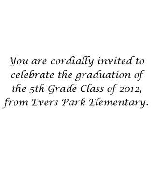 Graduation Invititaion (K, 5th or 8th grade)