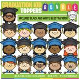 Graduation Kid Toppers Clip Art BUNDLE!