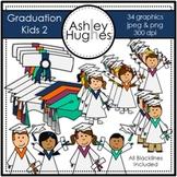 Graduation Kids 2 Clipart {A Hughes Design}