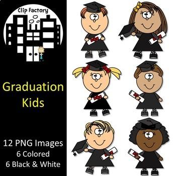 Graduation Kids Clip Art