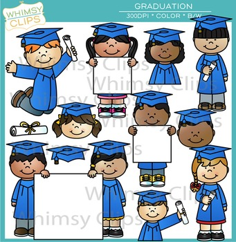 Kids Graduation Clip Art