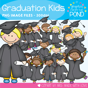 Graduation Kids - Clipart for Teachers