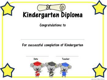 Graduation ~ Koala Bear Graduation Day Party Pack and Graduation Certificates