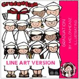 Graduation clip art - LINE ART- by Melonheadz