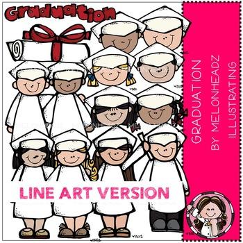 Melonheadz: Graduation clip art - LINE ART