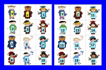 Graduation Literacy Center: Sequencing & Matching Alphabet & Counting