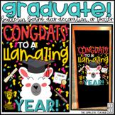 Graduation Llama May Bulletin Board, Door Decoration Kit,