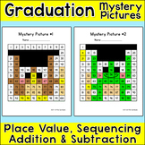 End of Year Activities - Graduation Math Hundreds Chart Mystery Pictures