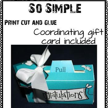 Graduation Gift - Money Scroll Box (Tiffany Blue)