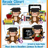 Graduation Monkeys ClipArt - Commercial Use