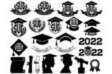 2019  2020 Graduation Monogram SVG, Graduation Hat svg, Gr