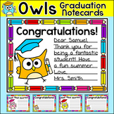 End of the Year Graduation Note Cards - Owl Theme