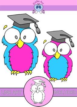 Graduation Owl Clip Art {Freebie}