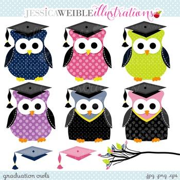 Graduation Owls Cute Clipart, Graduation Graphics, Owl Clip Art