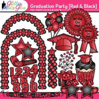 Graduation Clip Art {End of Year Party Celebration Graphic