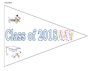 Graduation Pennant and Mini Paper Graduation Cap