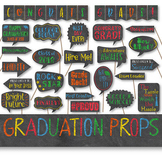 Graduation Photo Booth Prop Signs - Colorful End of School