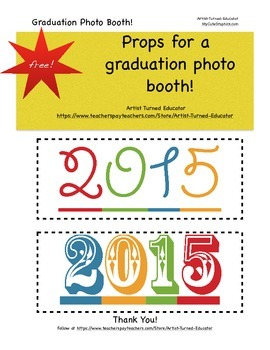 Graduation Photo Booth Props(Free)