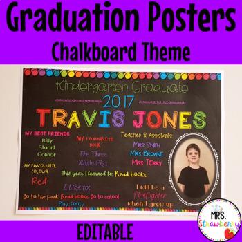 Graduation Posters - Editable
