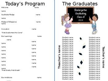 Graduation Program - Editable