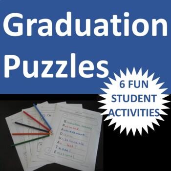 Graduation Puzzle Activities