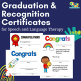 Graduation & Recognition Certificates for Speech Language & Other Therapies