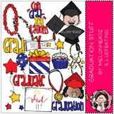 Graduation Stuff clip art - COMBO PACK - Melonheadz Clipart