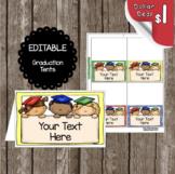 Graduation Tents - EDITABLE - Kindergarten - Preschool - Labels