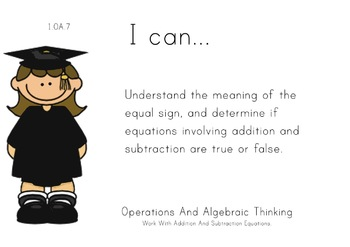 Graduation Theme 1st grade math Common Core Posters first Grade Standards