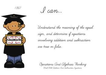 Graduation Theme 1st grade math Common Core Posters first Grade Standards
