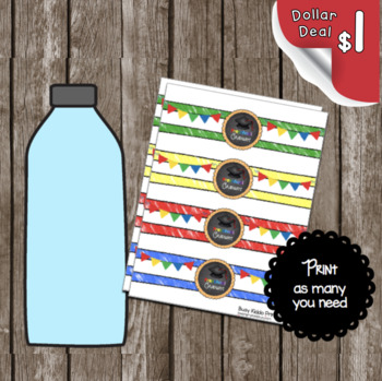 Graduation Water Bottle Labels - Kindergarten - Decorations