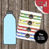 Graduation Water Bottle Labels - Kindergarten - Decorations